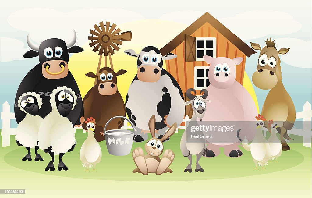 Farm animals collection : Stock Illustration