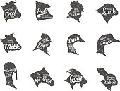 Farm Animals Icons Collection, Butchery Labels Templates