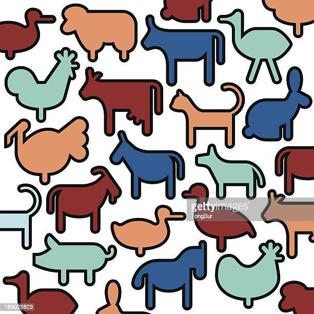 Farm Animals Icons - Color Series