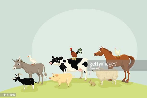 farm animals - mare stock illustrations, clip art, cartoons, & icons