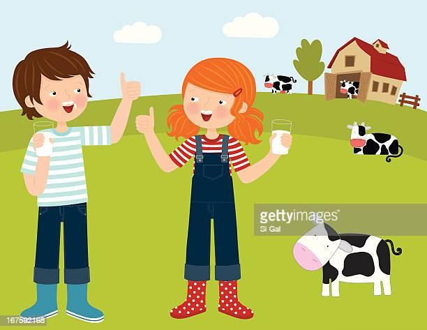 farm animals (series) - calcium stock illustrations, clip art, cartoons, & icons