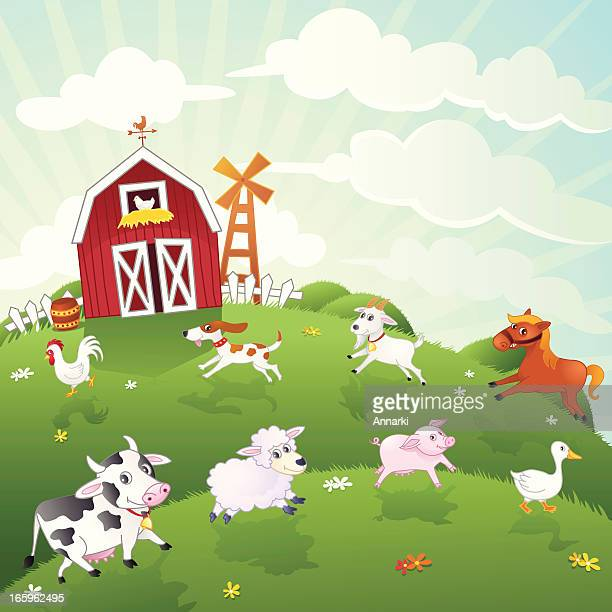 Farm Animals Vector Illustration Series