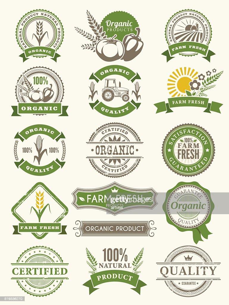 Farm Badges : stock illustration