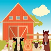 Farm banner with animals