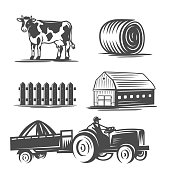 Farm collection. Vector illustration.