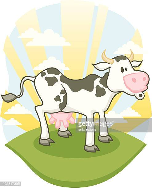 farm cow mooing - cow mooing stock illustrations