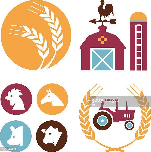 illustrations, cliparts, dessins animés et icônes de éléments de la ferme - girouette