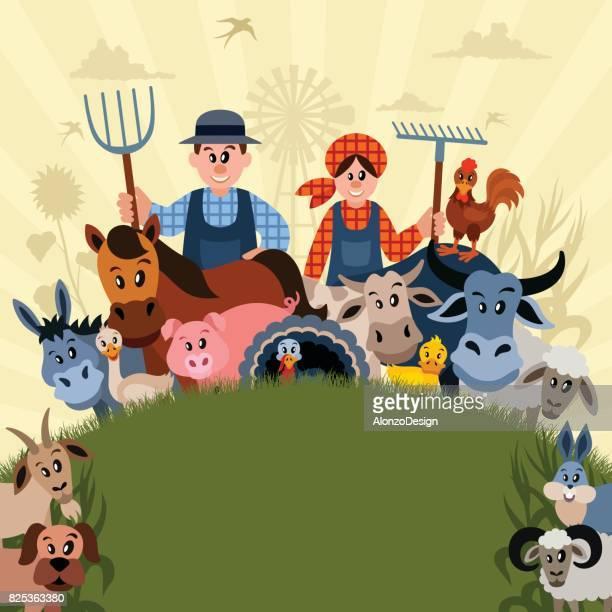 Farm Family Poster