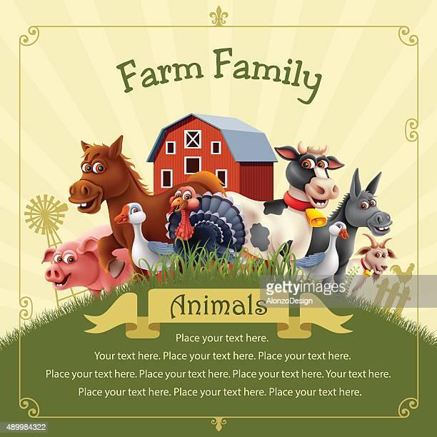 farm family - bran stock illustrations, clip art, cartoons, & icons