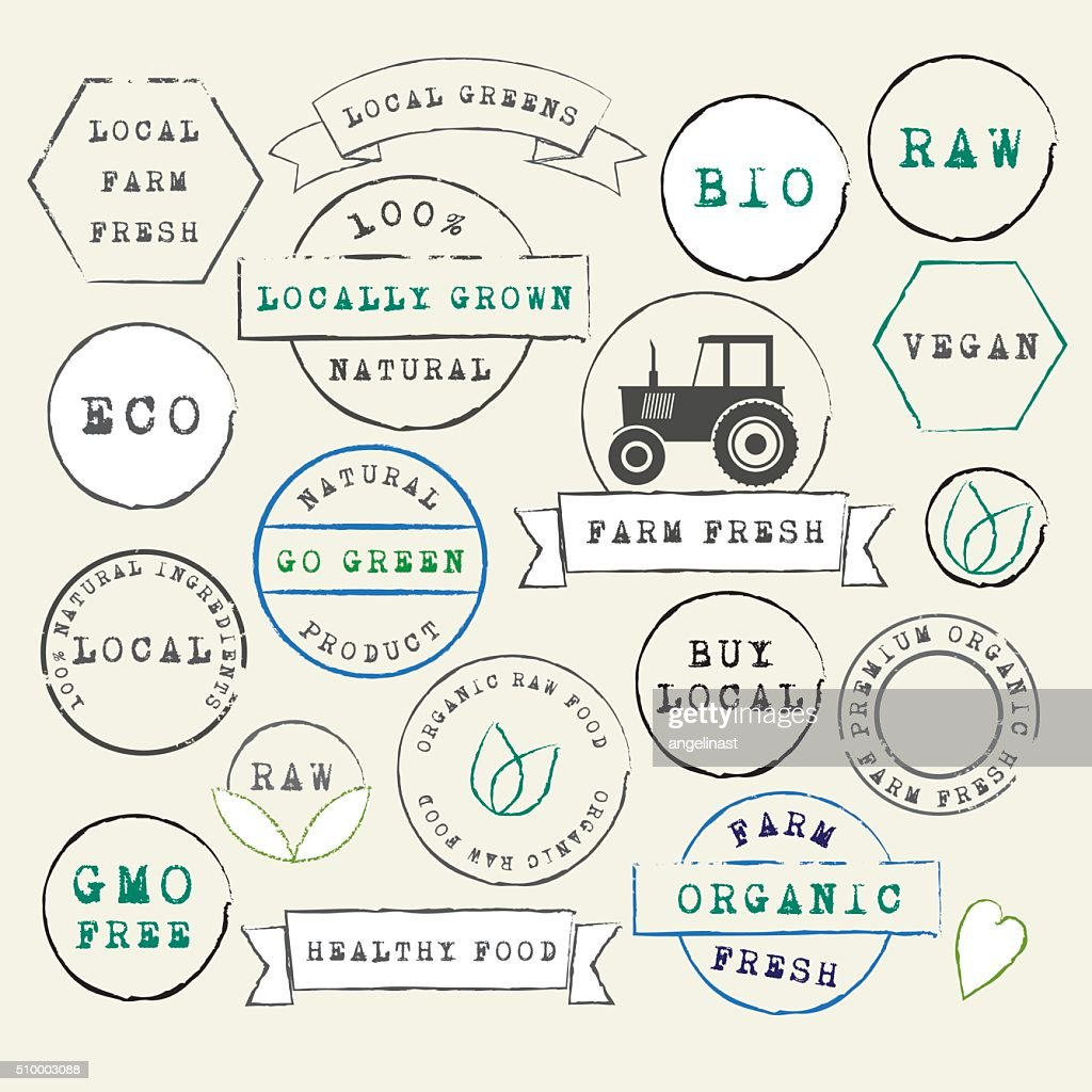 Farm Fresh organic stamps set