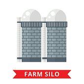 Farm grain silo