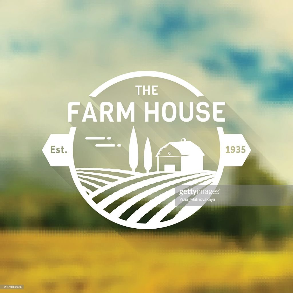 Farm House vector badge.