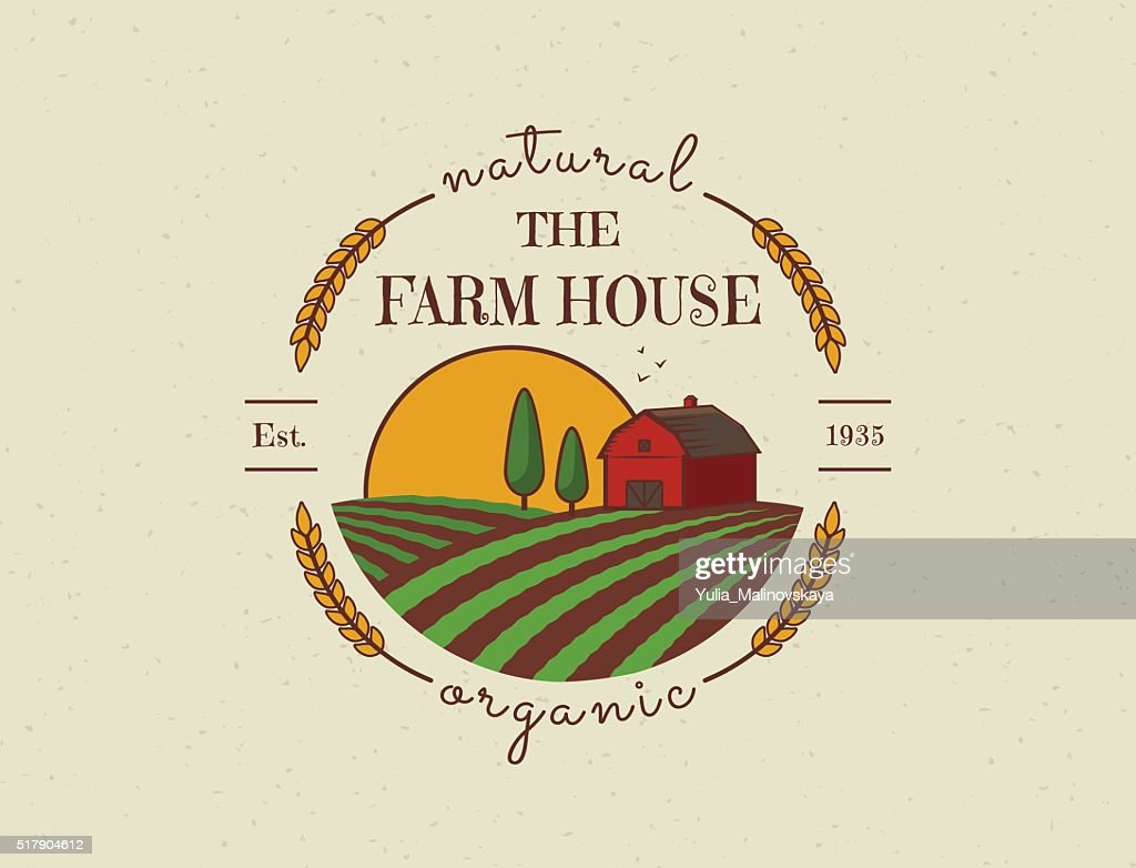 Farm House vector symbol.