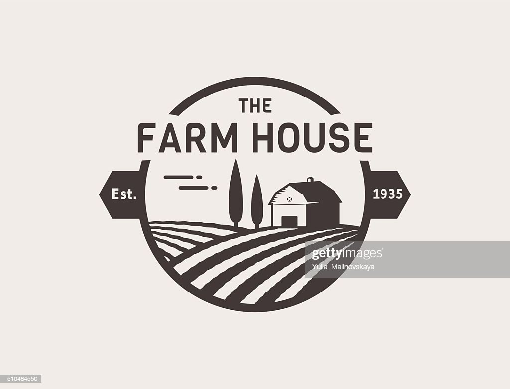 Farm House vector.