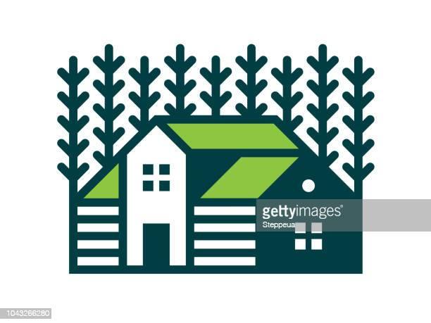 farm icon - farmhouse stock illustrations