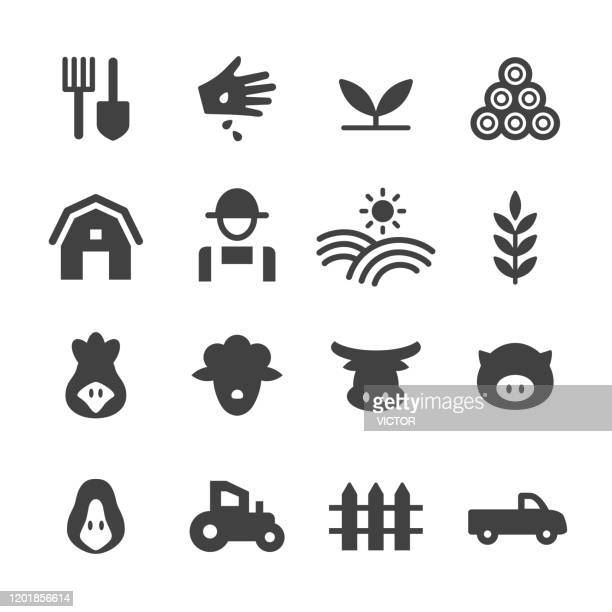farm icons - acme series - ranch stock illustrations