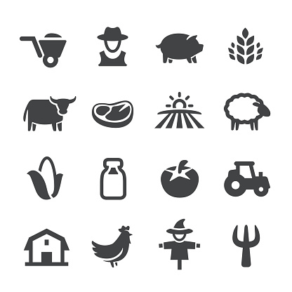 Farm Icons - Acme Series - gettyimageskorea