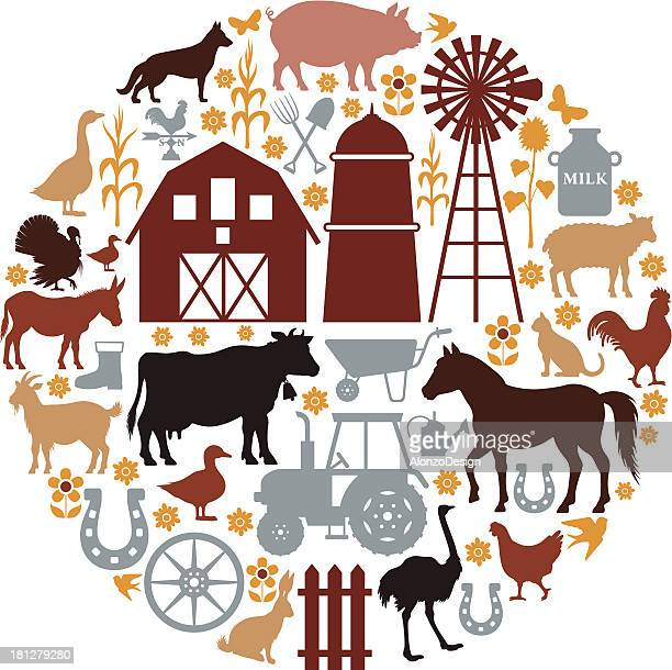 Farm Icons Composition