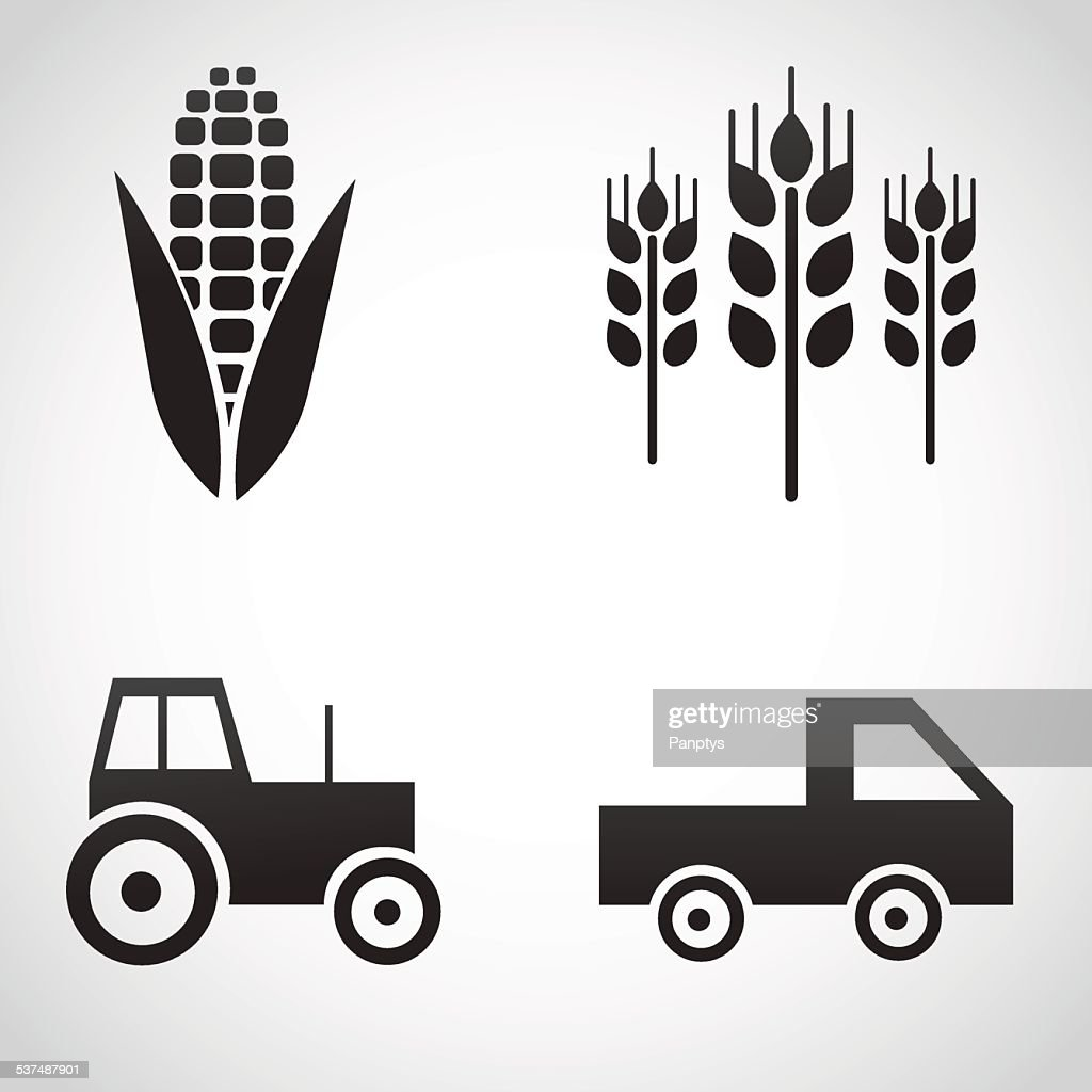 Farm icons isolated on white background.