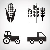 Farm icons isolated on white background.