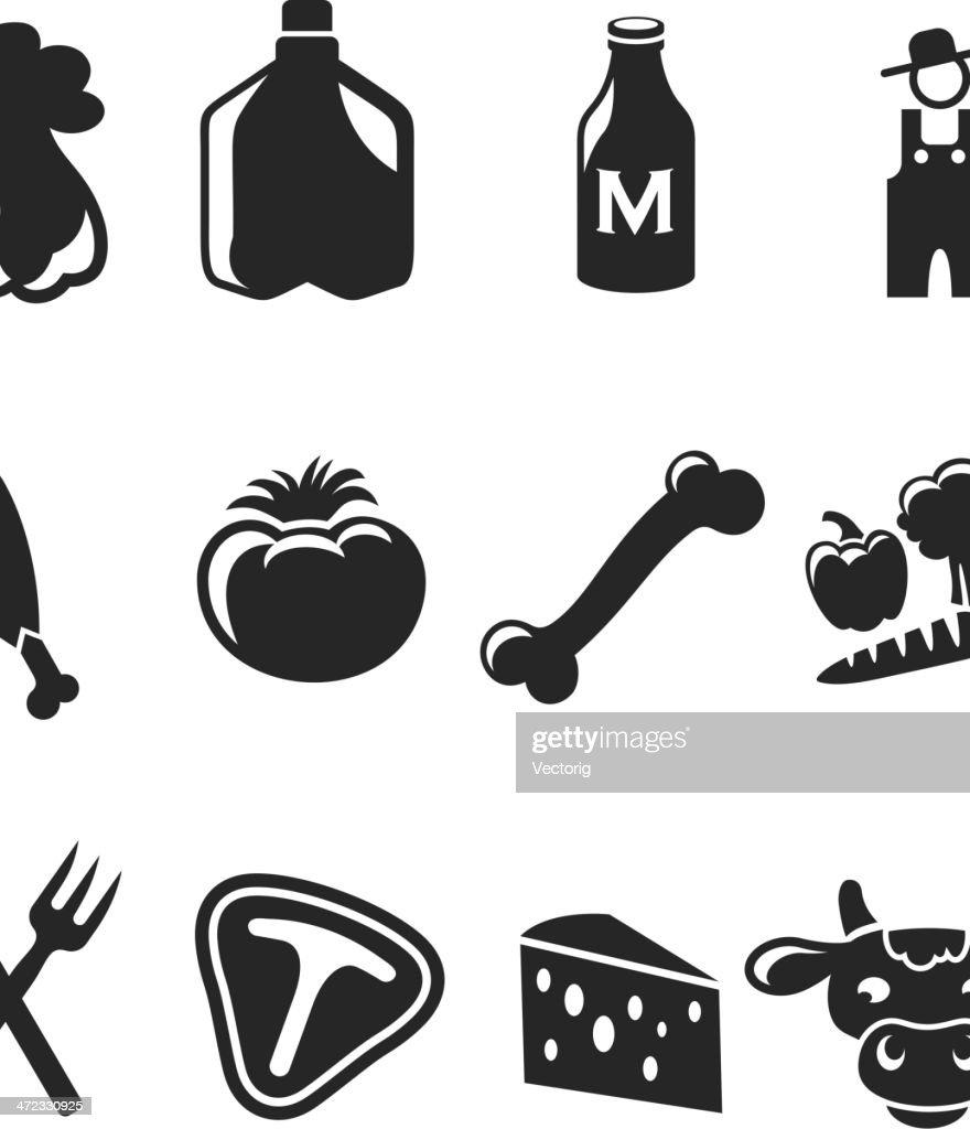Farm Icons : stock illustration