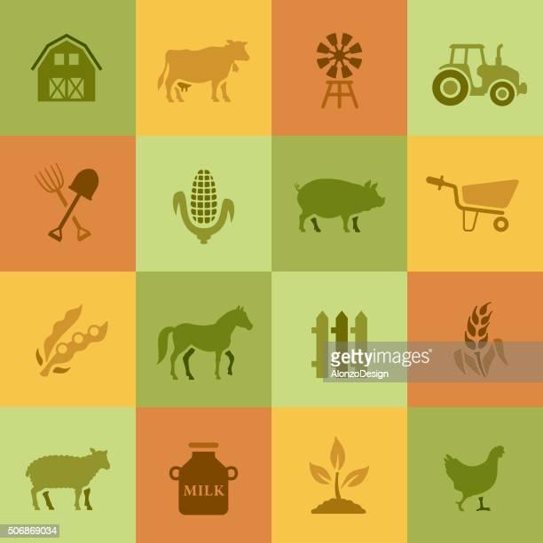 farm icons - sheep stock illustrations, clip art, cartoons, & icons