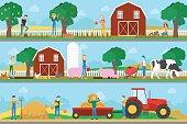 Farm illustration set.
