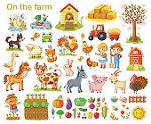 Farm set with animals.