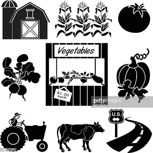 ilustraciones, imágenes clip art, dibujos animados e iconos de stock de farm de pie por la calle - puesto de mercado