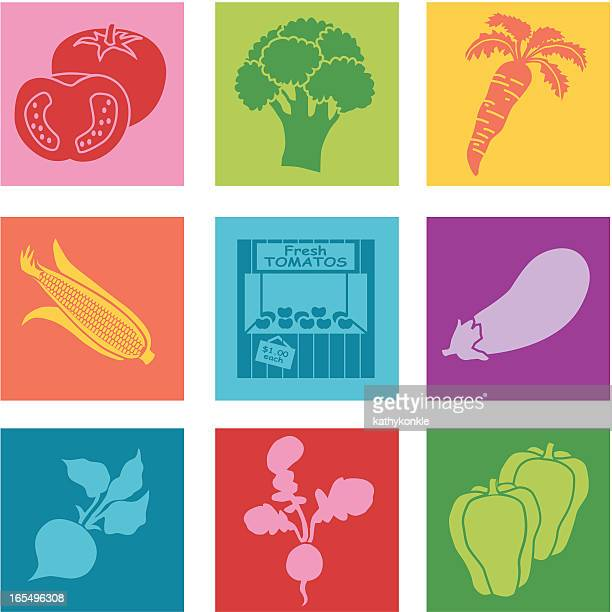 farm stand - broccoli stock illustrations, clip art, cartoons, & icons