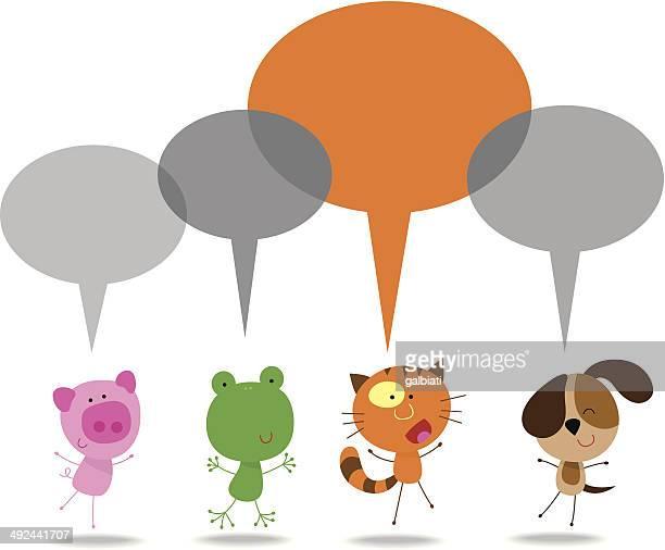 60点の猫 しゃべるのイラスト素材クリップアート素材マンガ素材