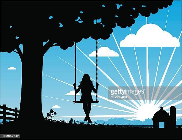 Farm tree swing