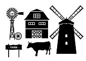 Farm. Vector illustration.