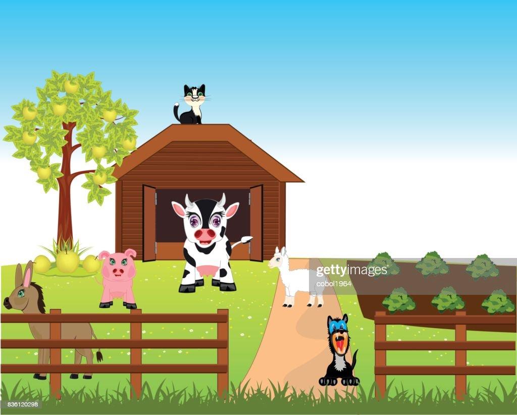 Farm with animal