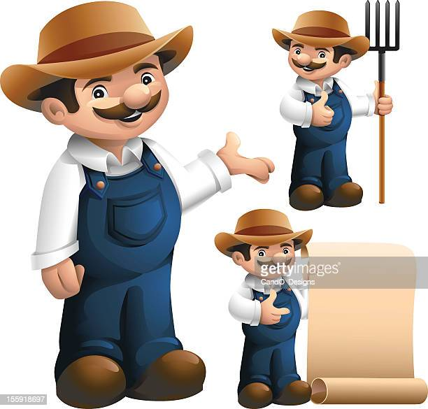 farmer: 3 in 1 - landscape gardener stock illustrations, clip art, cartoons, & icons