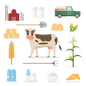 farmer cartoon character in organic farm with equipment.