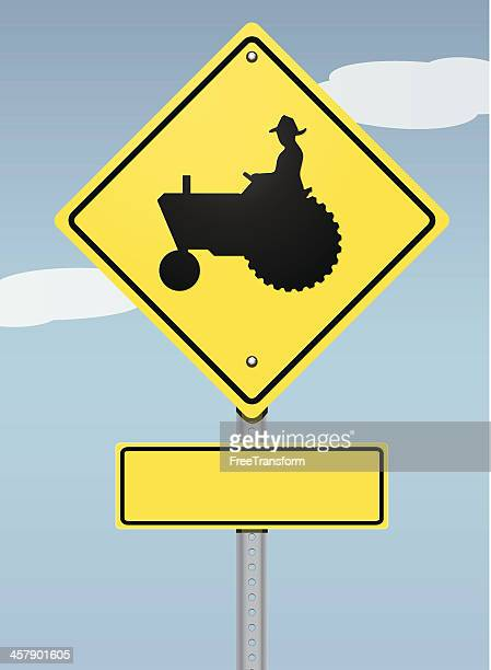 farmer crossing sign - crossing sign stock illustrations