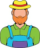 Farmer icon cartoon