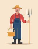 Farmer vector illustration.