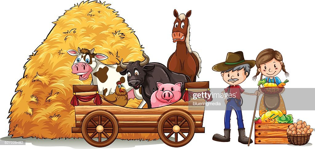 Farmers and farm animals