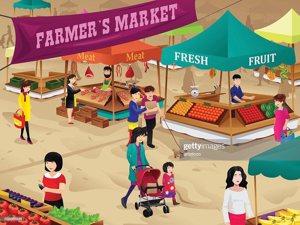 Farmers market scene