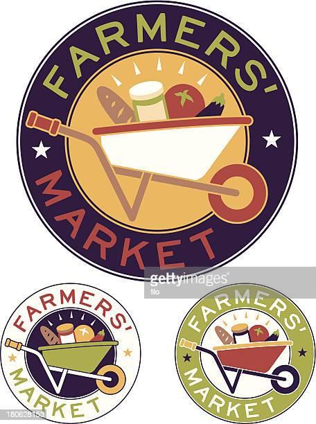 farmers market - agricultural fair stock illustrations, clip art, cartoons, & icons