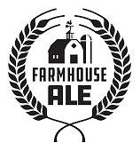 Farmhouse Ale Badge or Label.