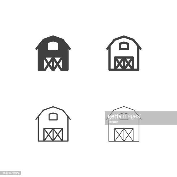 農家のアイコン - マルチ シリーズ - 納屋点のイラスト素材/クリップアート素材/マンガ素材/アイコン素材