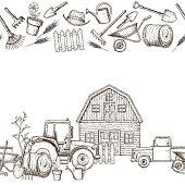 Farming agricultural borders