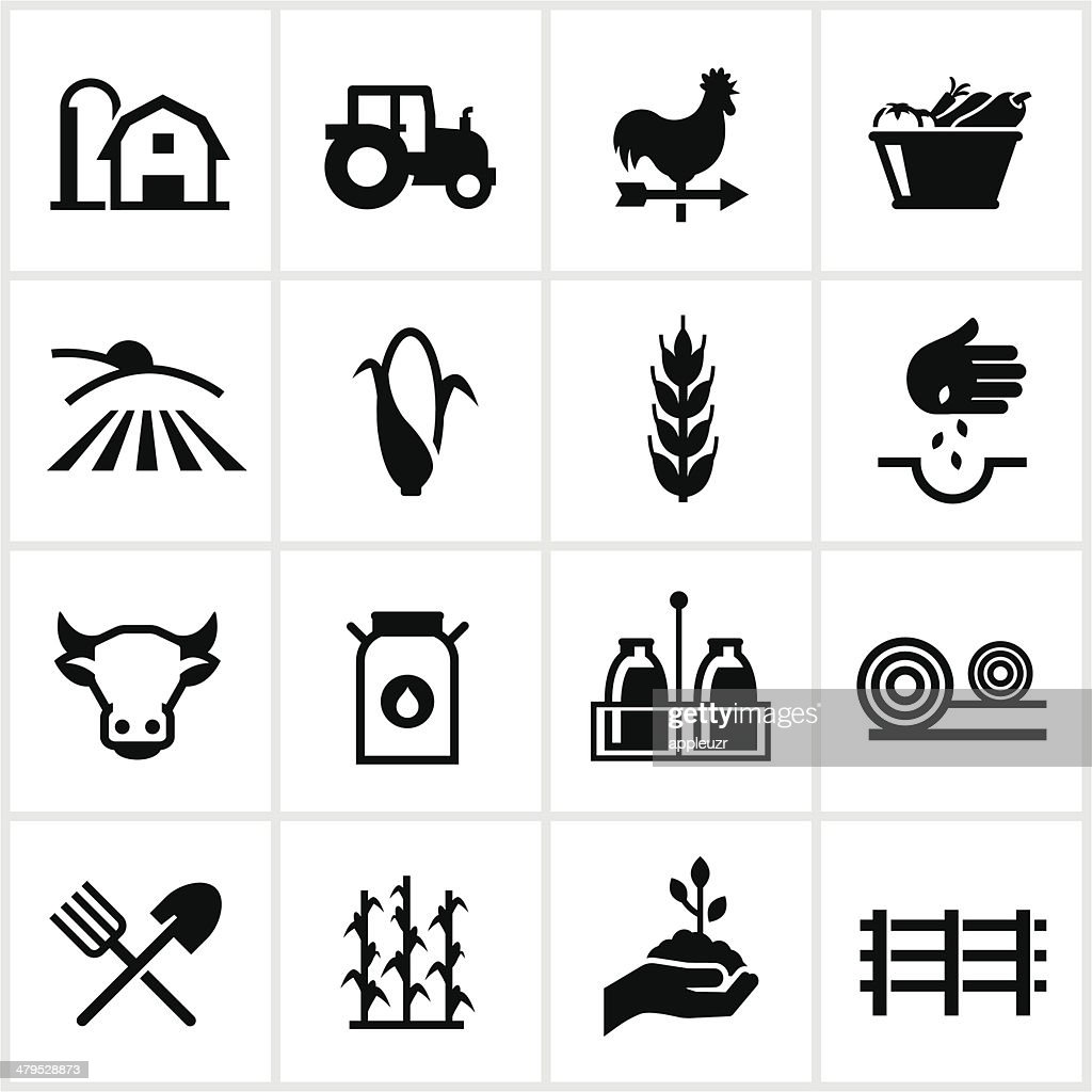 Farming and Agriculture Icons : stock illustration