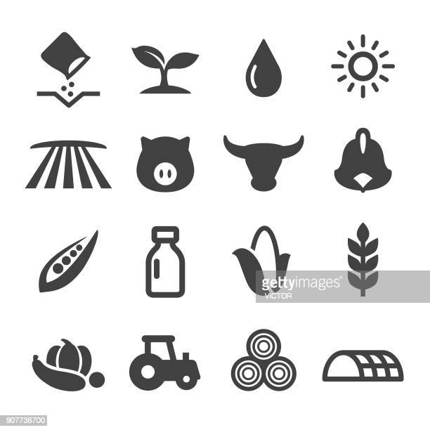 farming icons - acme series - corn stock illustrations, clip art, cartoons, & icons