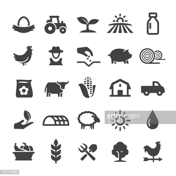 farming icons - smart series - animal stock illustrations