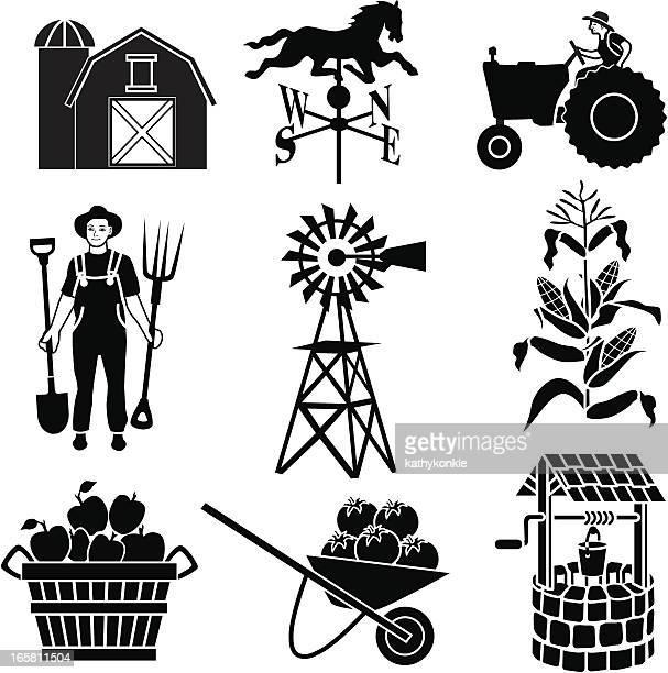 illustrations, cliparts, dessins animés et icônes de l'agriculture icônes - girouette