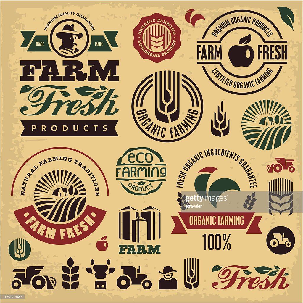 Farming sign set